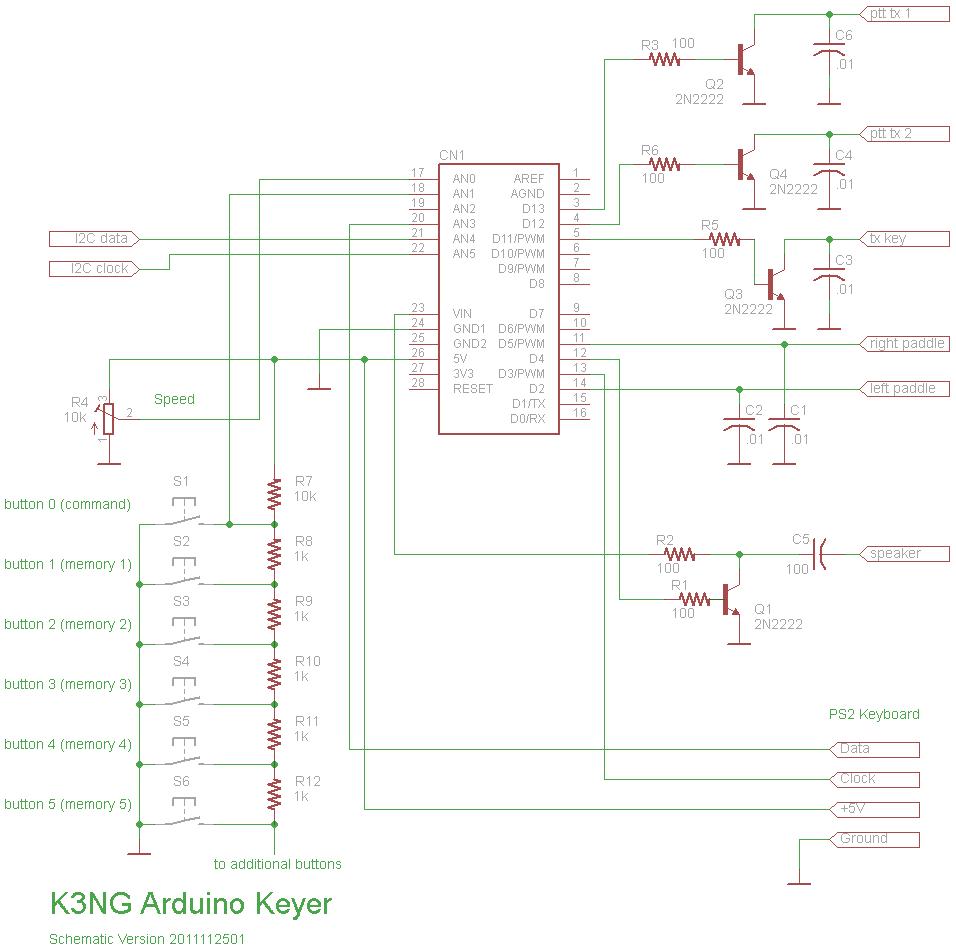 Schéma manipulateur CW Arduino